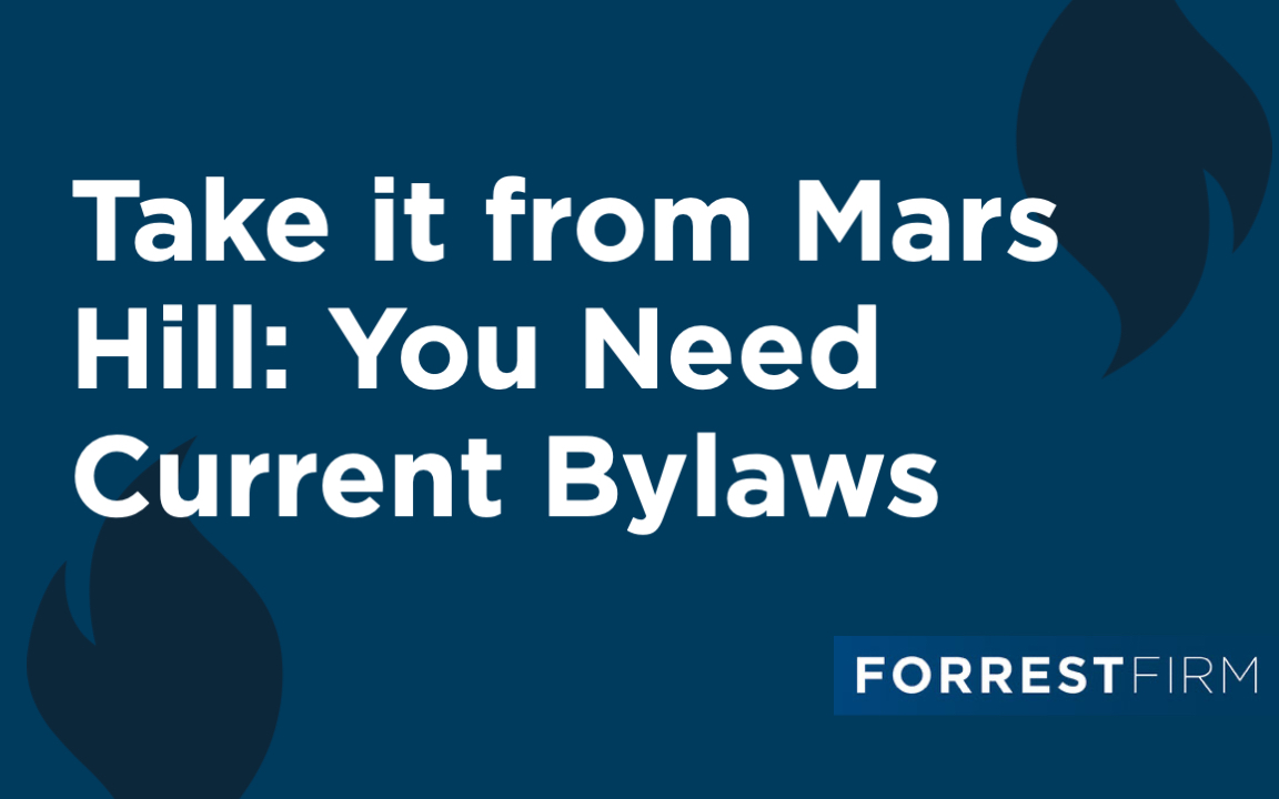 Take it from Mars Hill: You Need Current Bylaws
